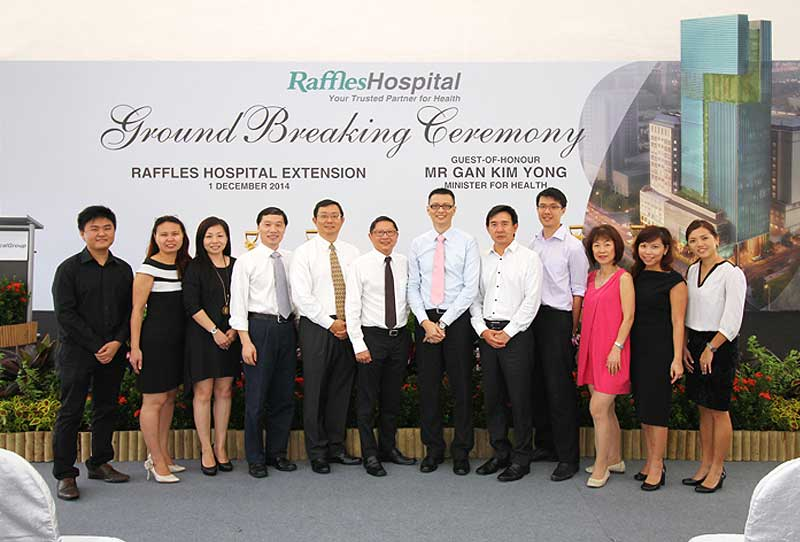 Ground Breaking for Raffles Medical Extension