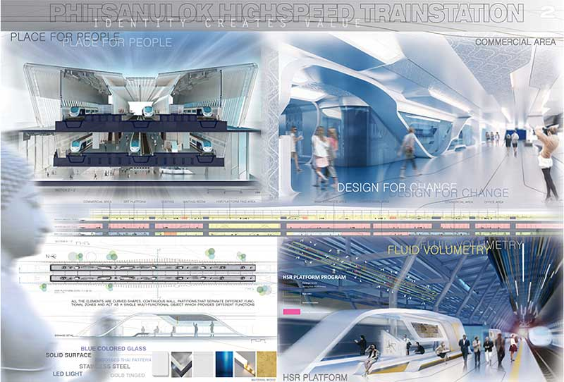 Phitsanulok Highspeed Train Station Competition Award Thailand