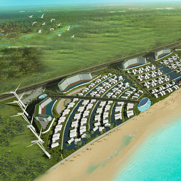 Seaside Coastal Resort Town